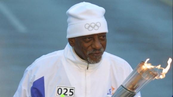 Най-възрастният олимпийски шампион на САЩ Дилърд Харисън, който печели олимпийското