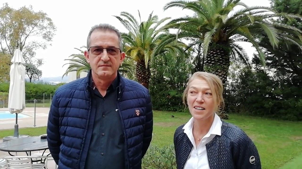 Президентът на Марица (Пловдив) Илия Динков и неговата съпруга Емилия