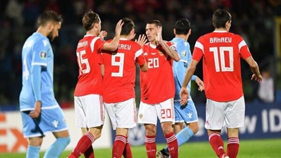 Русия завърши квалификационния цикъл за Евро 2020 с убедителна победа
