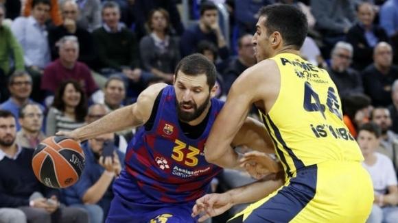 Барселона оглави класирането в Евролигата по баскетбол за мъже, след