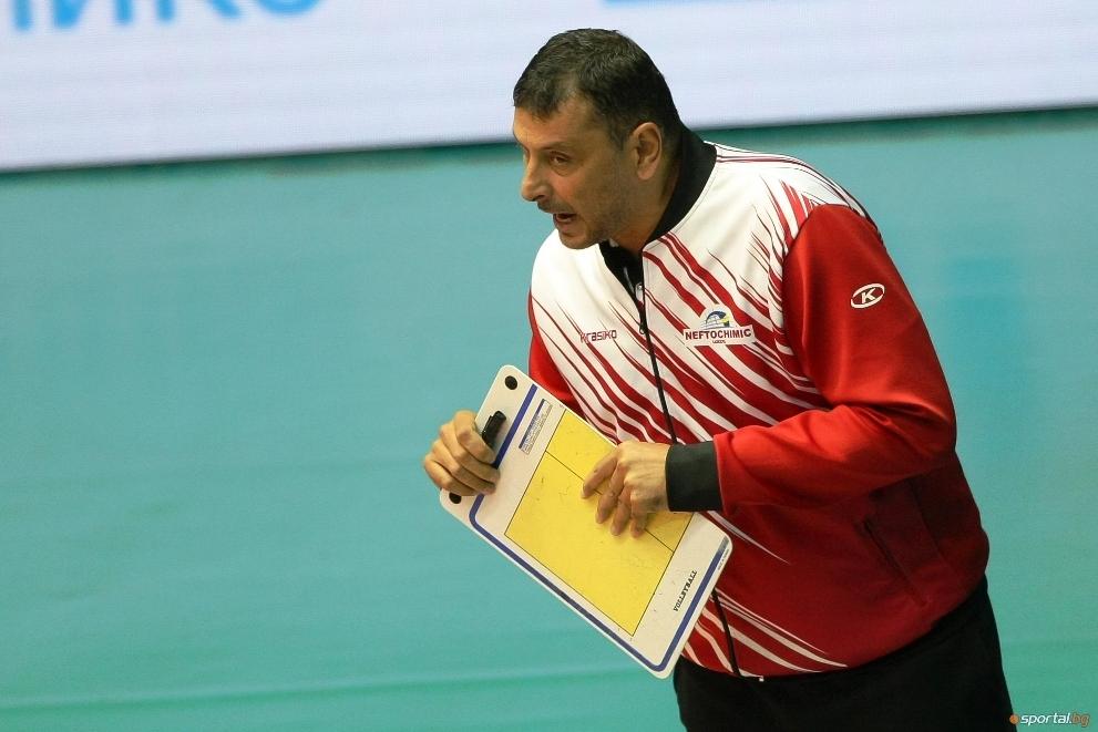 Наставникът на волейболния шампион Нефтохимик Николай Желязков сподели, че Левски