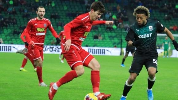 В последен мач от 18-ия кръг на руското първенство Краснодар