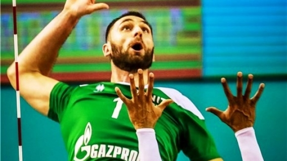 Волейболният национал Цветан Соколов и руският гранд Зенит (Казан) записаха