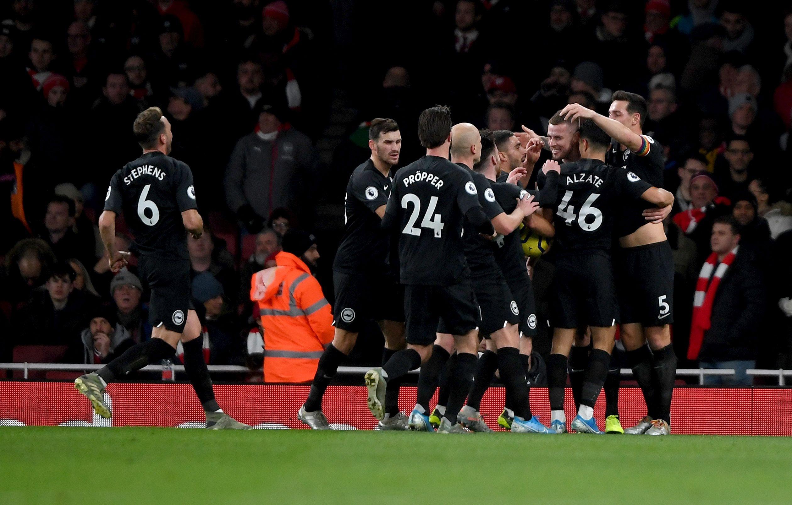 Тази вечер Арсенал приема Брайтън в среща от междинния 15-и