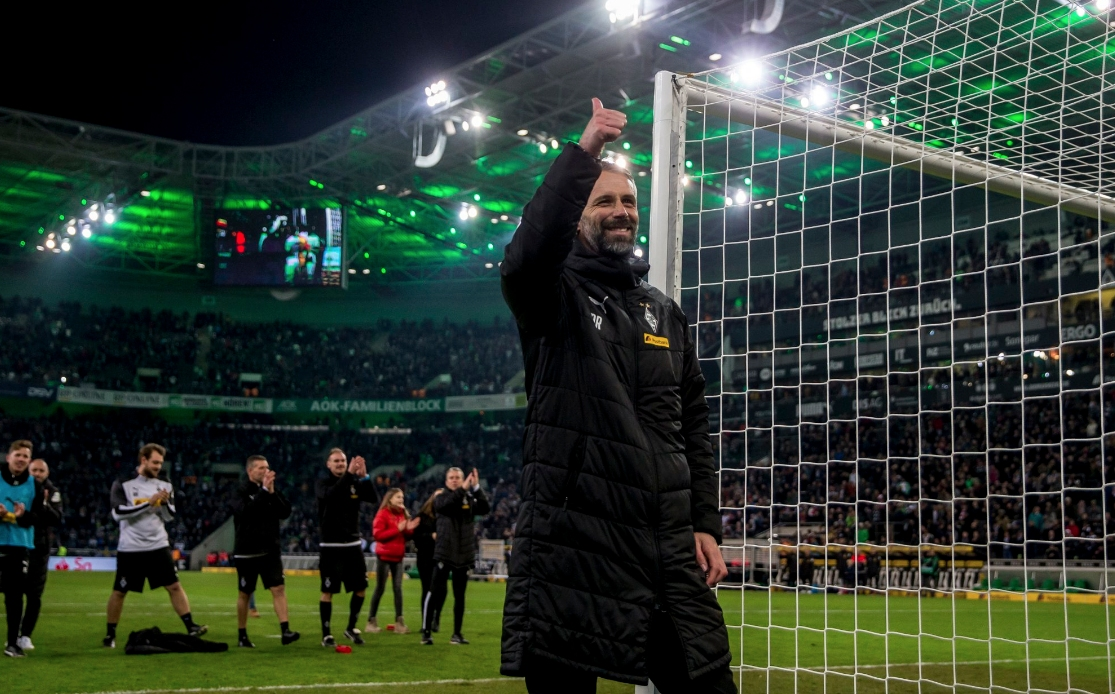 Наставникът на Борусия (Мьонхенгладбах) Марко Розе поздрави своите играчи за