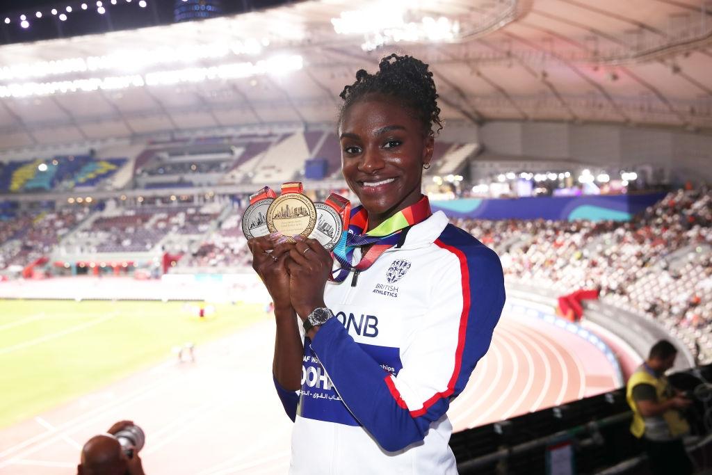Световната шампионка на 200 метра и сребърна медалистка на 100