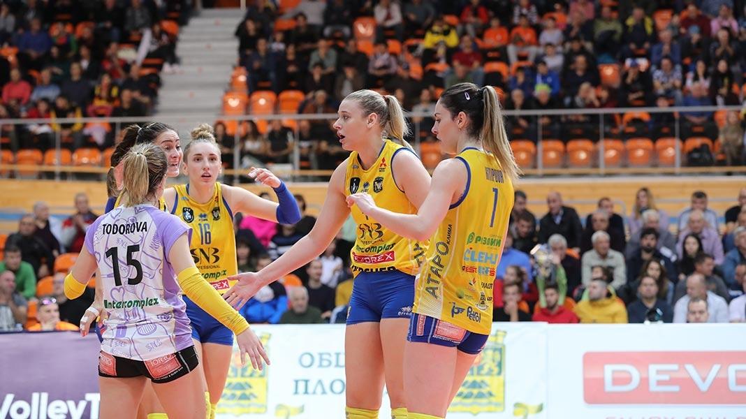 Женският волейболен шампион на България Марица (Пловдив) гостува на Перун