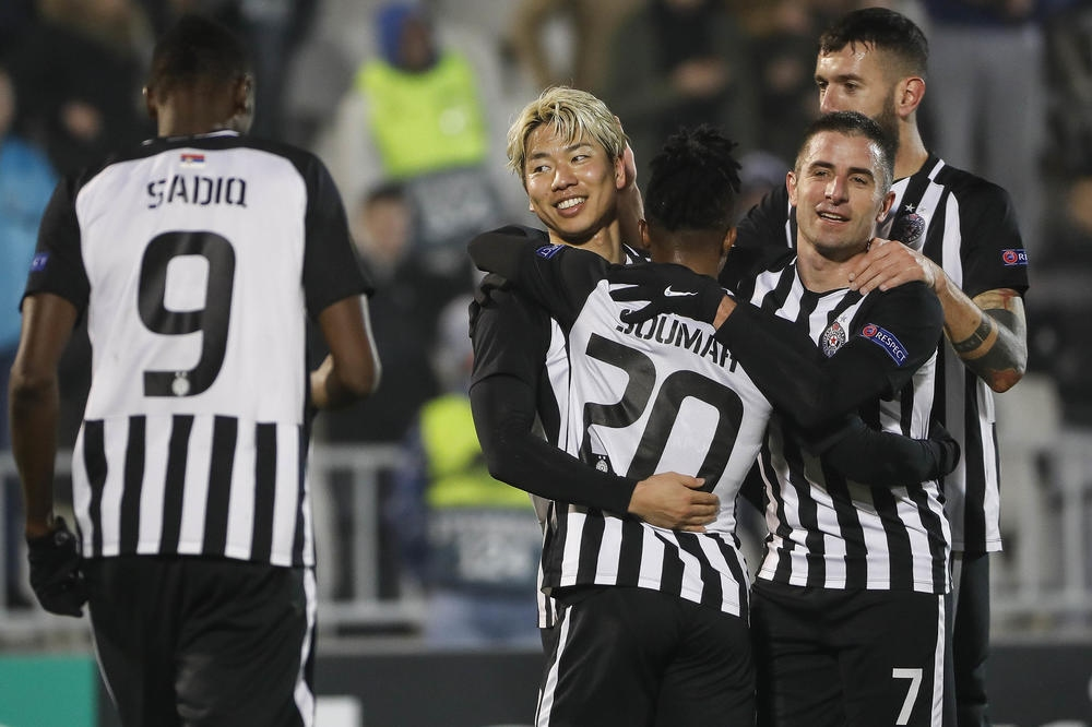 Партизан се сбогува с Лига Европа с разгромна победа с