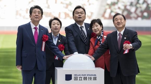 Новият олимпийски стадион в Токио за летните игри през следващата