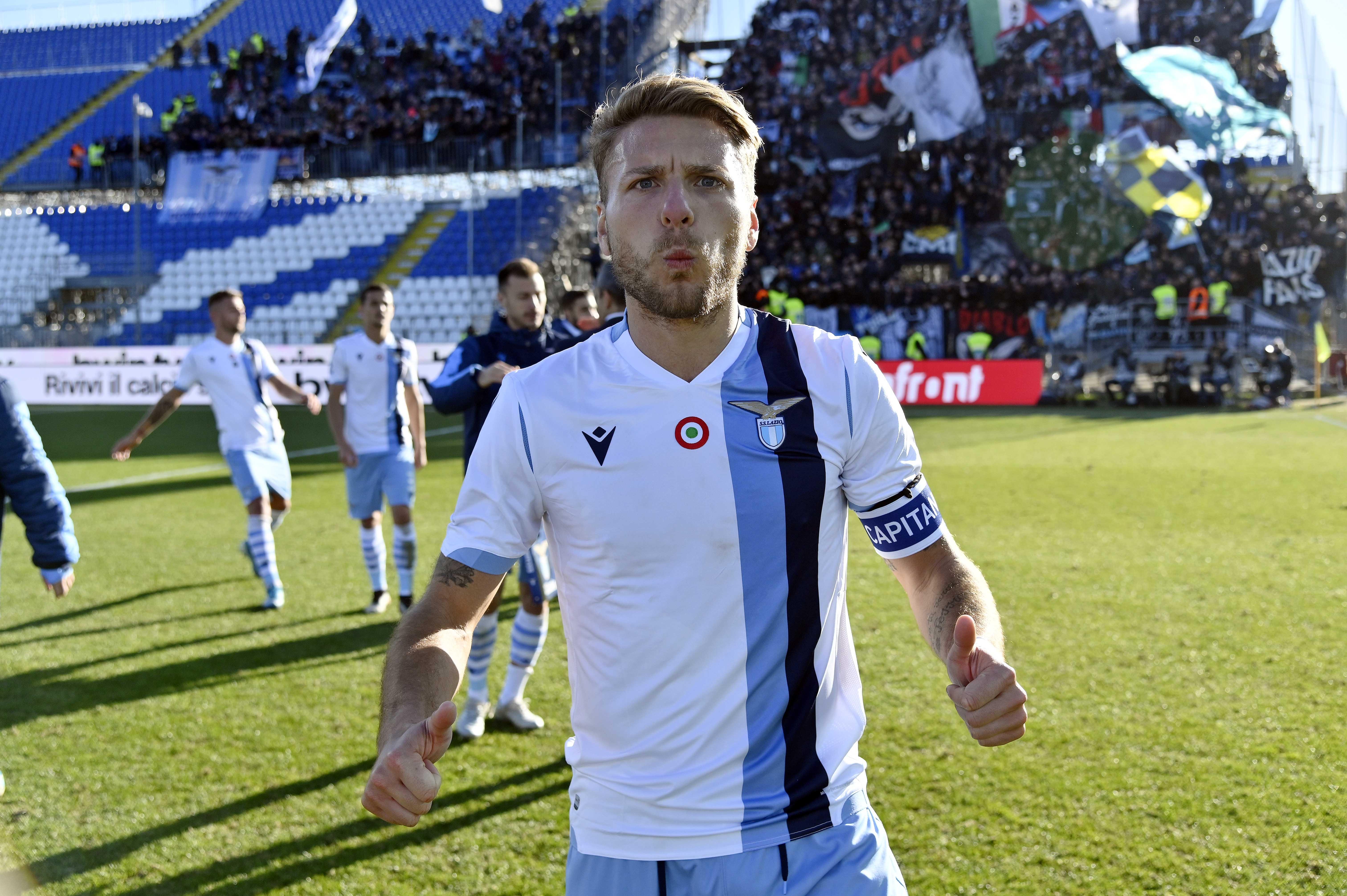 Нападателят на Лацио Чиро Имобиле отбеляза два гола при победата