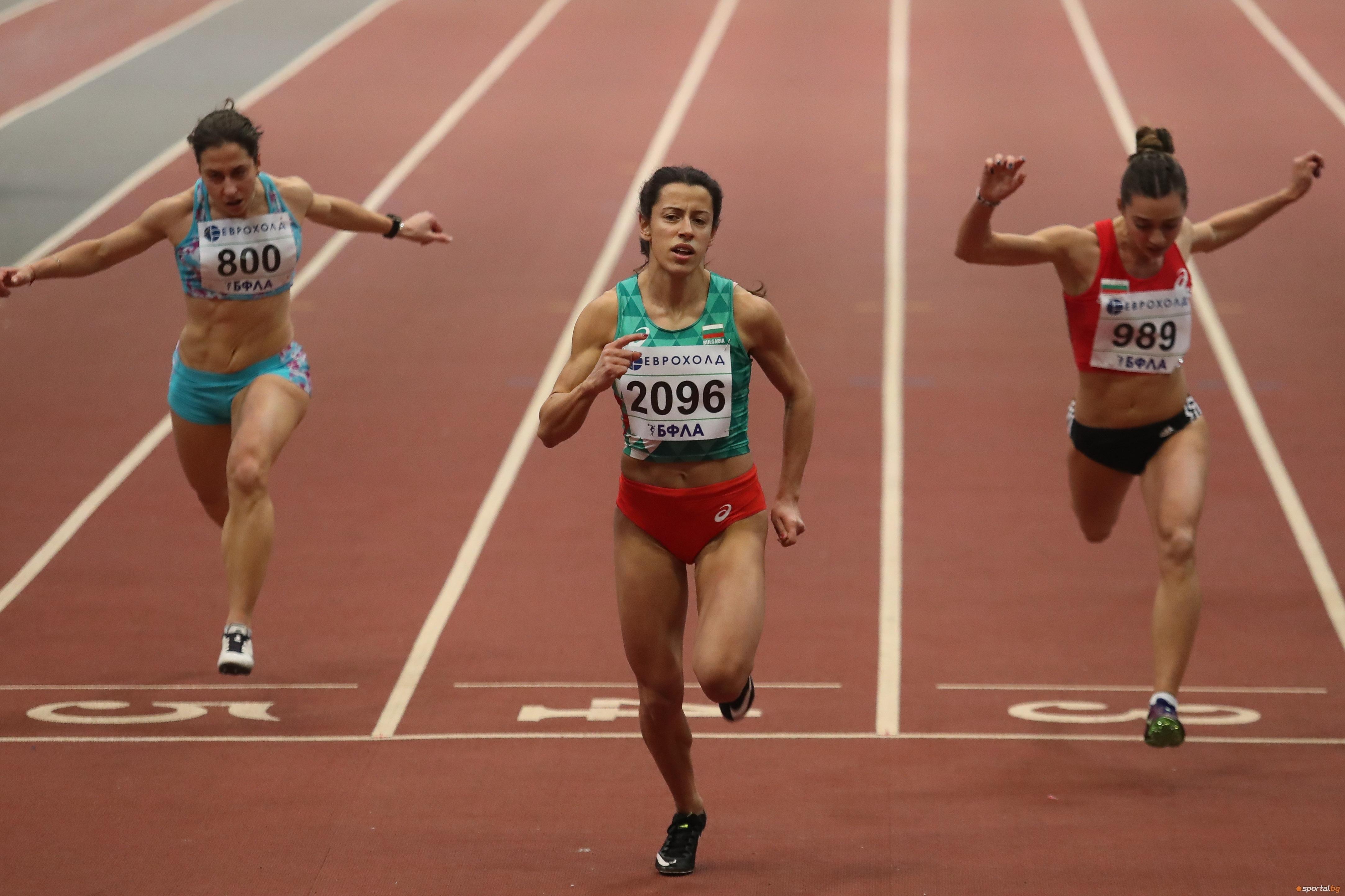 Виктория Георгиева (КЛАСА) спечели спринта на 60 метра при жените