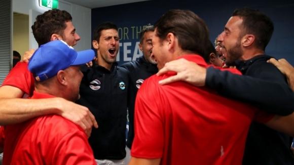 Сърбия отпразнува по интересен начин трофея от ATP Cup. Новак