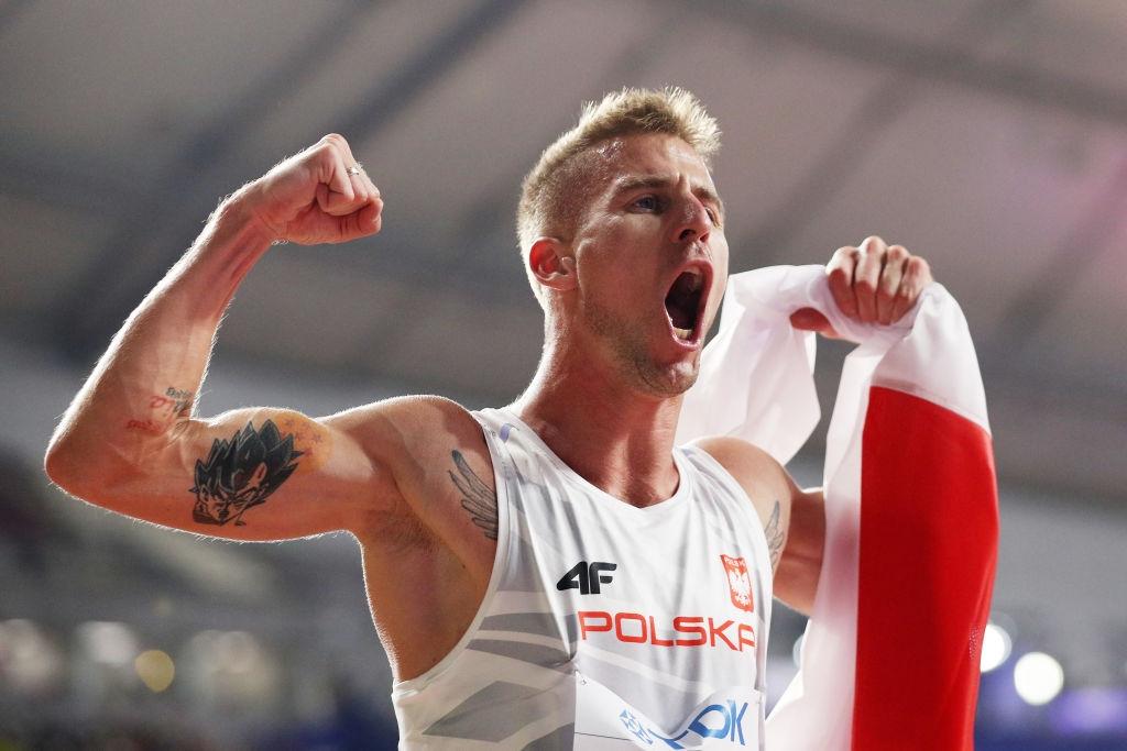 Бронзовият световен медалист на 1500 метра Марчин Левандовски и световният