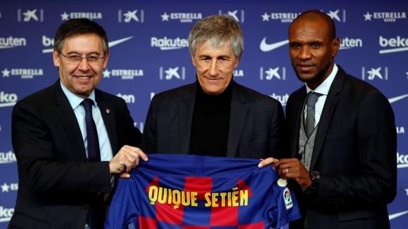 Новият наставник на Барселона Кике Сетиен официално беше представен пред