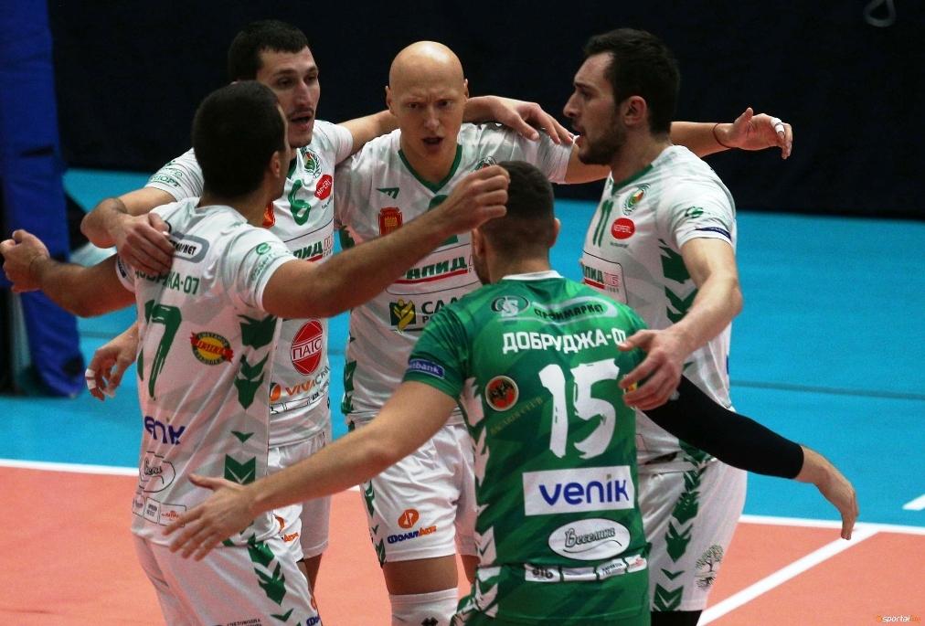 Волейболистите на Добруджа 07 (Добрич) се класираха на полуфиналите за