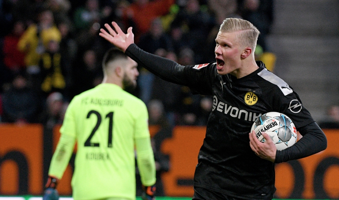 Сензацията Ерлинг Холанд направи запомнящ се дебют за Борусия (Дортмунд),