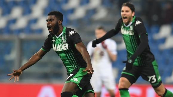 Отборът на Сасуоло постигна обрат и победи с 2:1 Торино