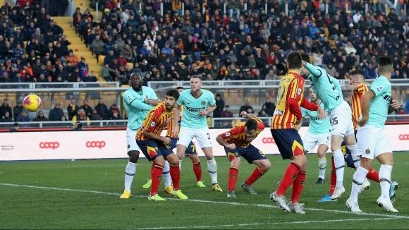 Отборите на Лече и Интер завършиха при резултат 1:1 в