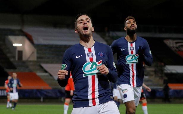 Купа на Франция, 1/16-финали: ЛОРИАН - ПСЖ 0:1 0:1 П.