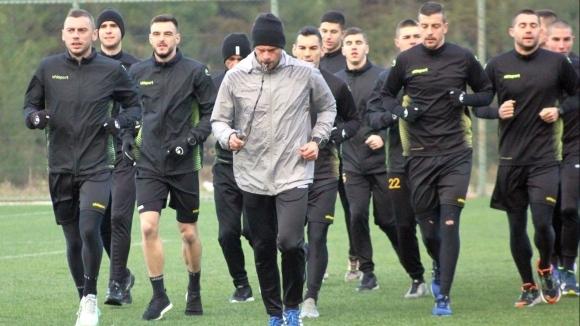 С много тежка физическа тренировка стартира новата седмица за футболистите