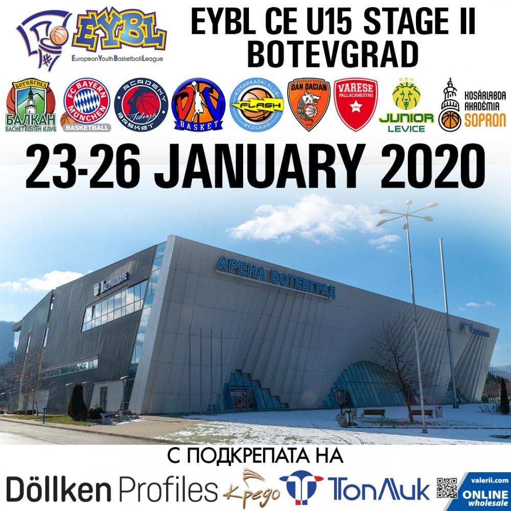 Днес в Ботевград започва престижната Европейска младежка баскетболна лига (European