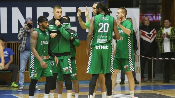 Баскетболистите на Балкан (Ботевград) изоставаха в резултата доста време при