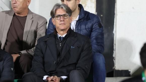 Спортният директор на ЦСКА-София Кристиано Джарета се опита да успокои