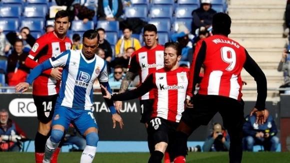 Отборите на Еспаньол и Атлетик Билбао завършиха 1:1 в мач