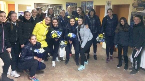 Волейболистките и треньорският щаб на Марица (Пловдив) се завърнаха от