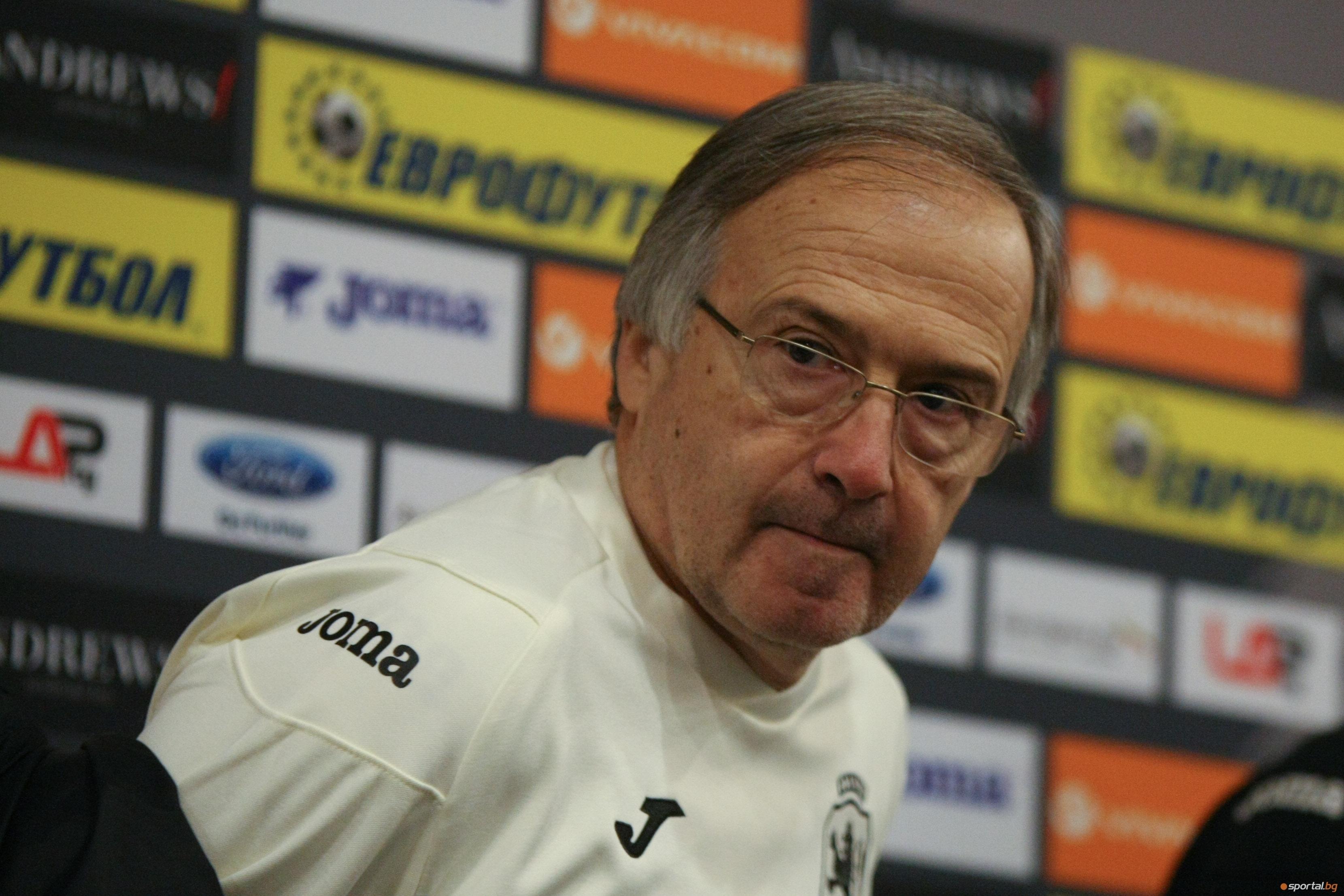 Селекционерът на българския национален отбор по футбол Георги Дерменджиев е