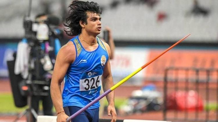 Индийският състезател в хвърлянето на копие Нийра Чопра направи ударно