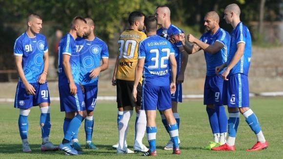Третодивизионният Черноморец (Бургас) победи с 1:0 юношите (старша възраст) на