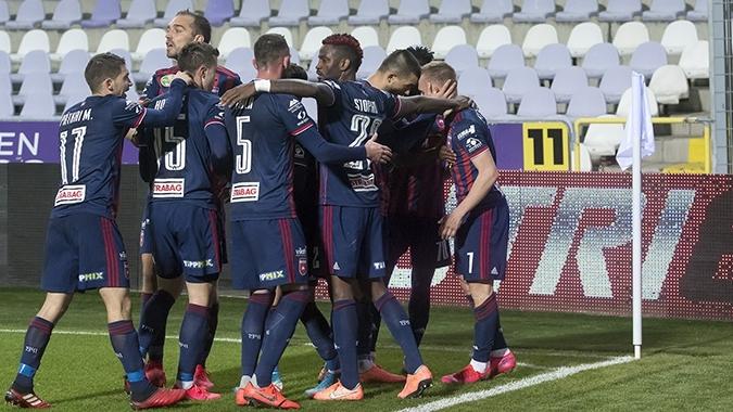 Отборът на МОЛ Фехервар постигна трудна победа с 1:0 като