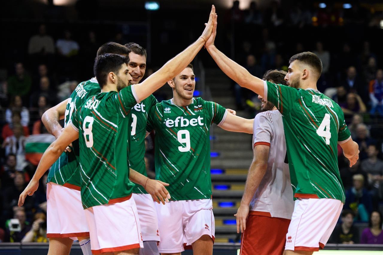 Българският национален отбор по волейбол при мъжете заема 14-то място