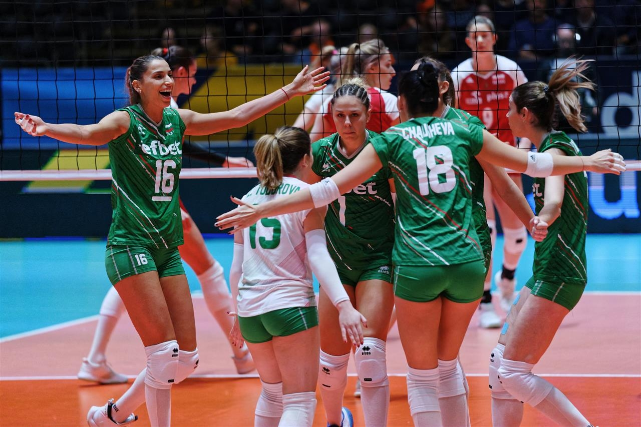 Националният волейболен отбор на България за жени заема 20-о място
