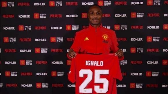 Новият нападател на Манчестър Юнайтед Одион Игало, който бе взет