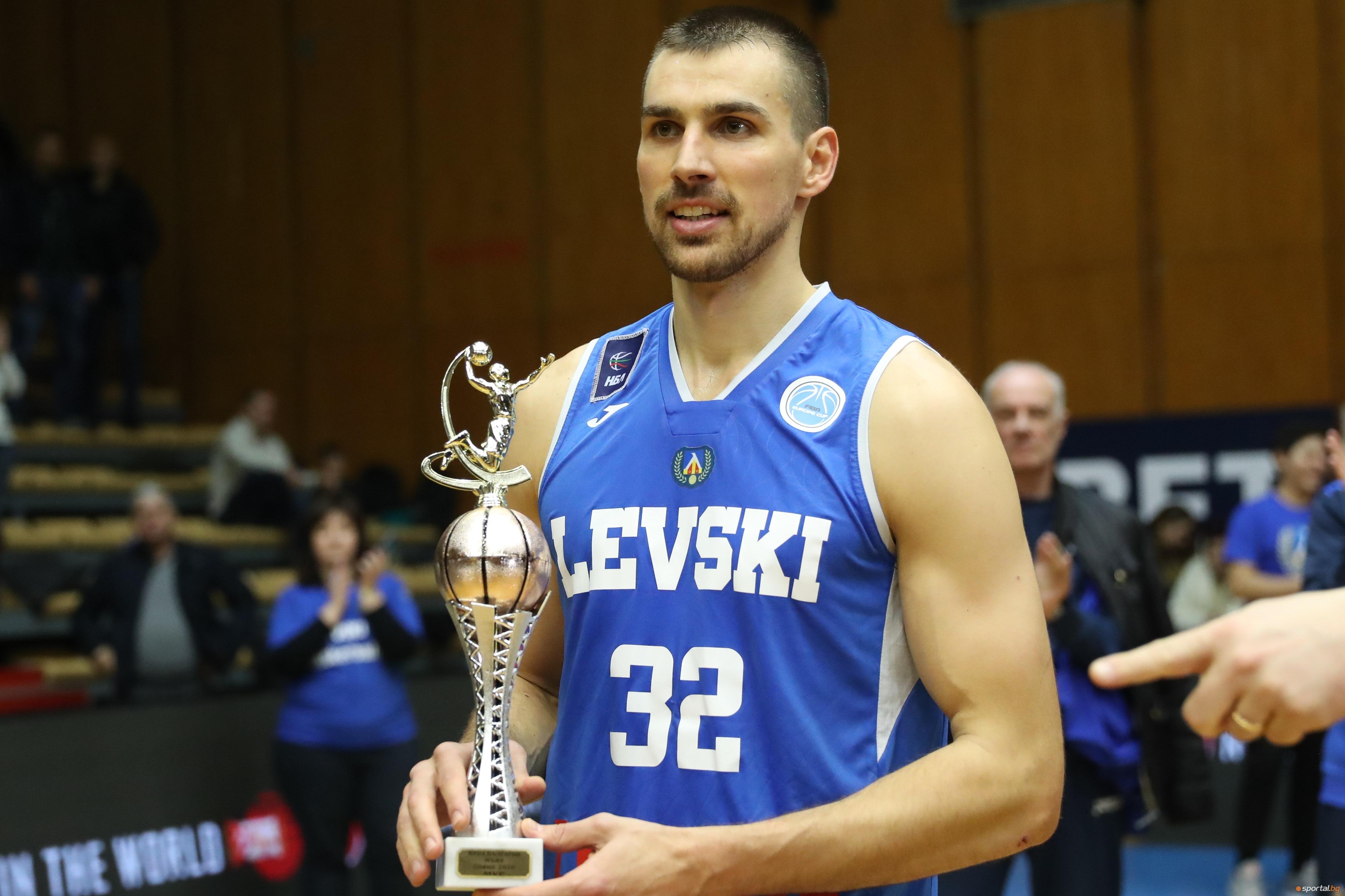 Зведата на Левски Лукойл Христо Захариев, който беше избран за