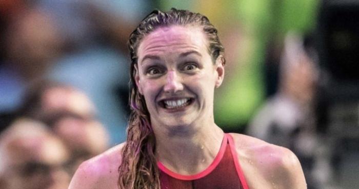 Три от звездите на световното плуване – Сара Сьостром, Катинка