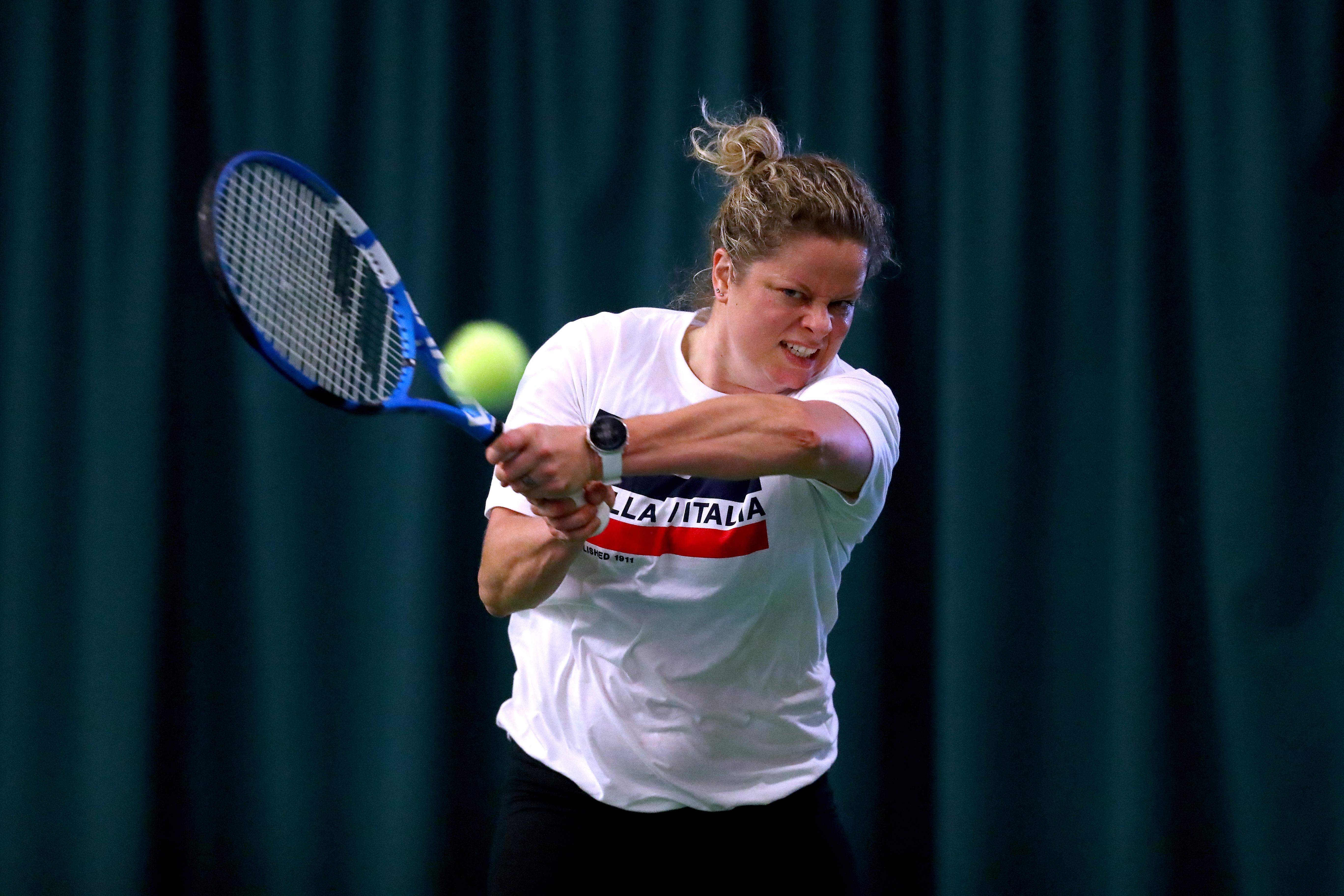 Белгийката Ким Клайстерс, която на 36-годишна възраст възобнови тенис кариерата