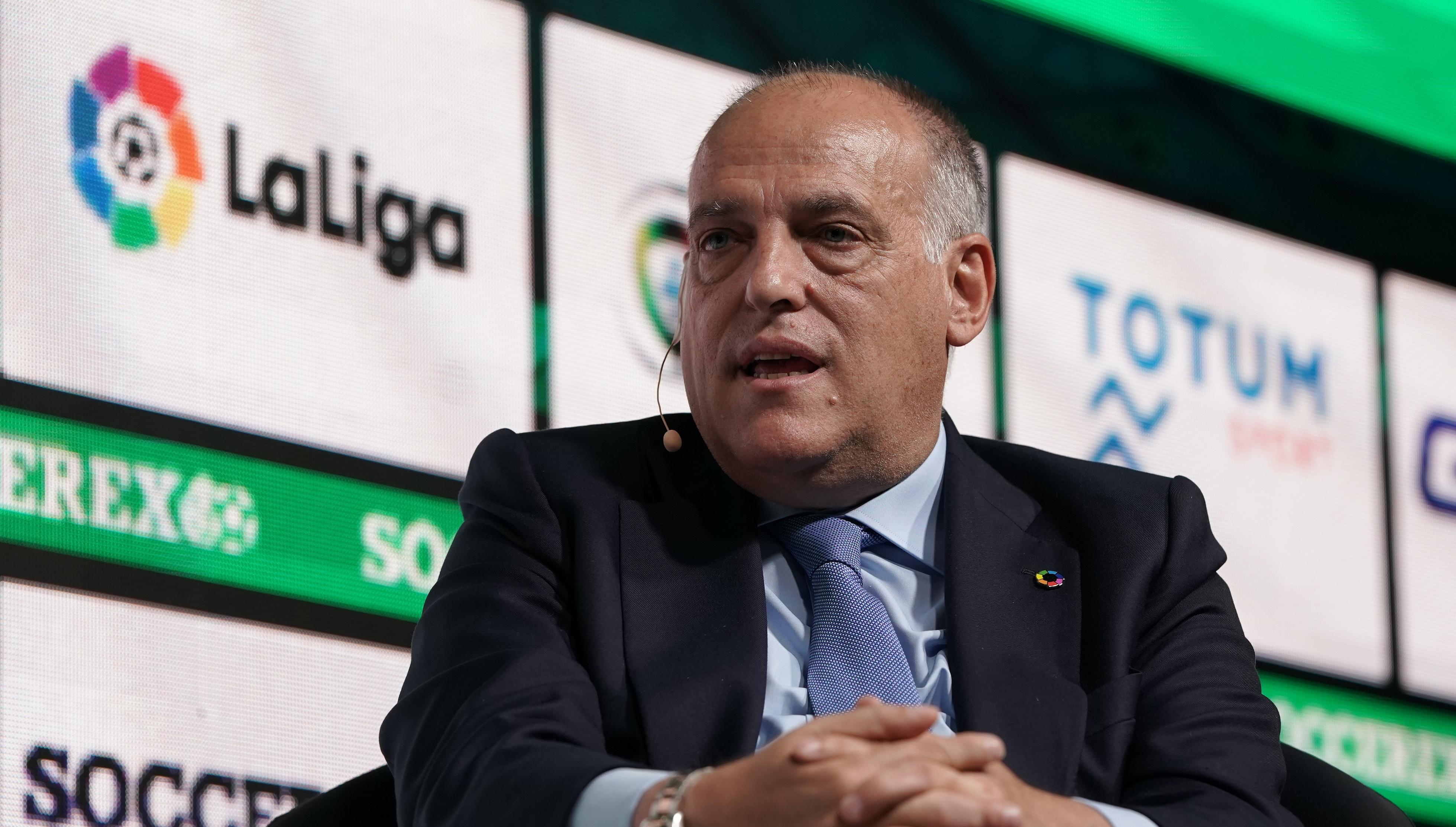 Президентът на Ла Лига Хавиер Тебас увери, че всички в