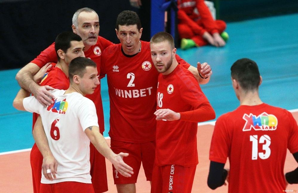 Волейболният отбор на ЦСКА записа едва 7-а победа в Суперлигата