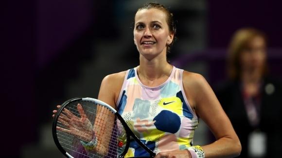 Шампионката от 2018 година Петра Квитова (Чехия) и Арина Сабаленка