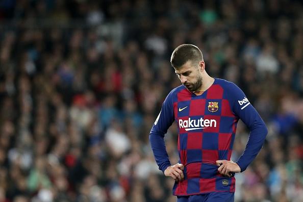 Защитникът на Барселона Жерард Пике остана много разочарован след загубата