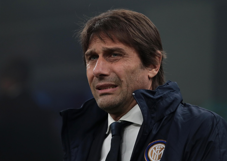 Треньорът на Интер Антонио Конте не бе щастлив след загубата