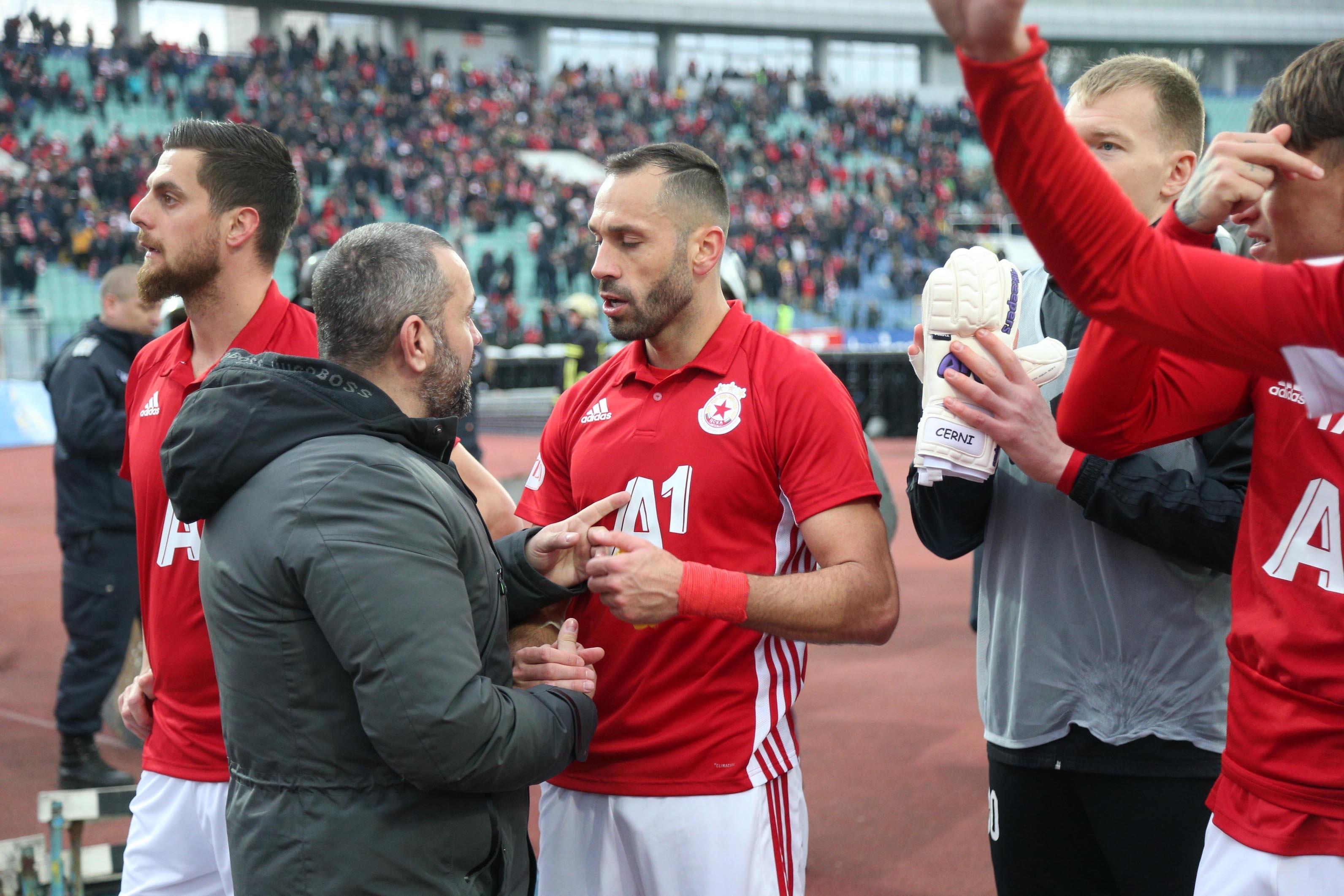 Капитанът на ЦСКА-София Петър Занев е амбициран за реванш, след
