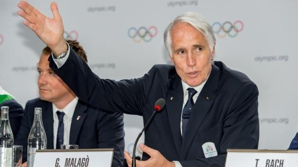 Президентът на Италианския олимпийски комитет Джовани Малаго заяви, че се