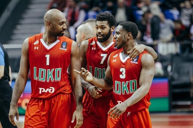 Играчите и треньорския щаб на руския баскетболен тим Локомотив Кубан