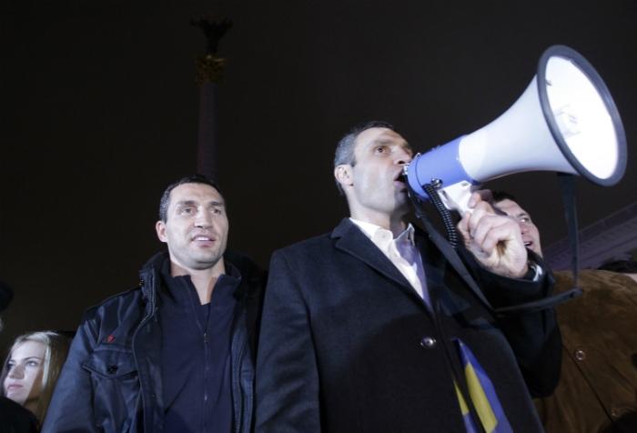 Бившият световен шампион и настоящ кмет на Киев – Виталий