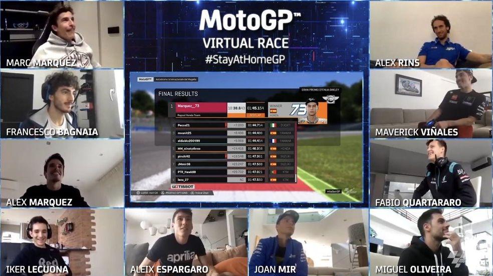 Дебютанът в MotoGP Алекс Маркес спечели виртуалното Гран при на