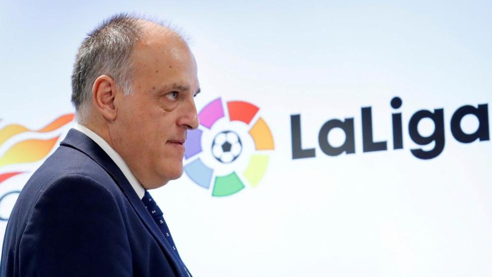 Президентът на Ла Лига Хавиер Тебас е обсъдил с представителите